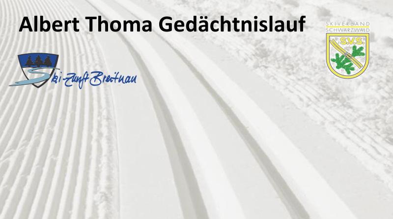 Ausschreibung Albert-Thoma-Gedächtnislauf 2017