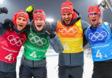 Bronze für das deutsche Biathlon-Quartett