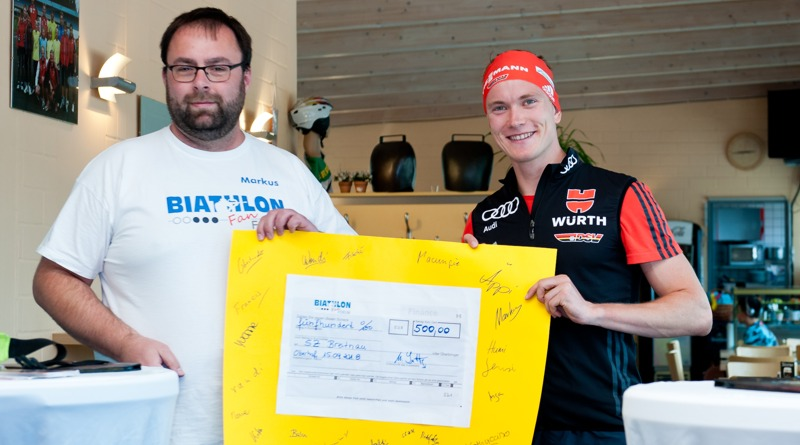 Biathlonfans spenden für den Nachwuchs