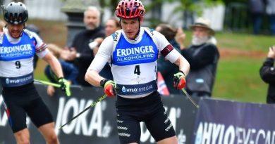 Doll beim City Biathlon in Wiesbaden